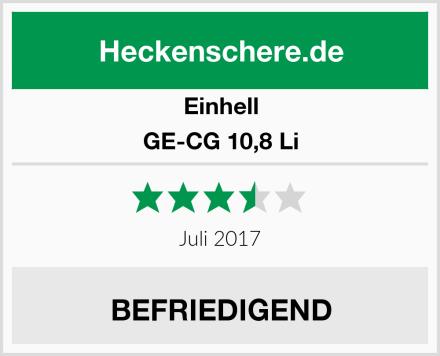 Einhell GE-CG 10,8 Li Test