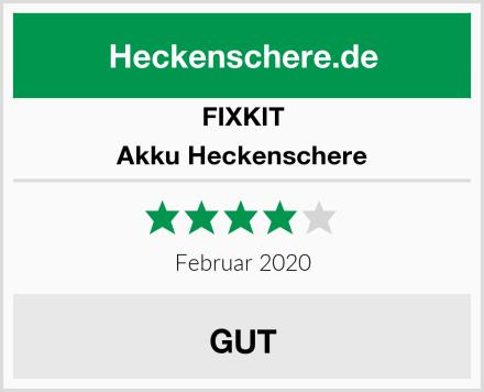FIXKIT Akku Heckenschere Test