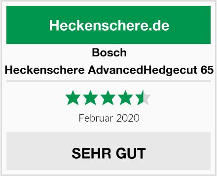 Bosch Heckenschere AdvancedHedgecut 65 Test