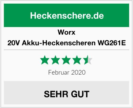 WORX 20V Akku-Heckenscheren WG261E Test
