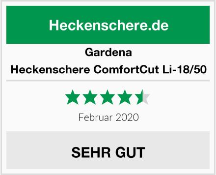 Gardena Heckenschere ComfortCut Li-18/50 Test