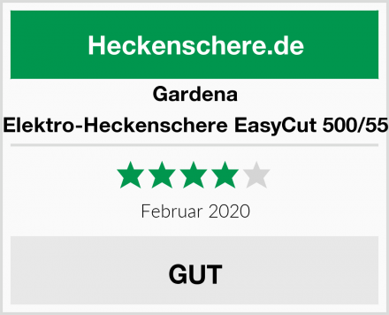 Gardena Elektro-Heckenschere EasyCut 500/55 Test