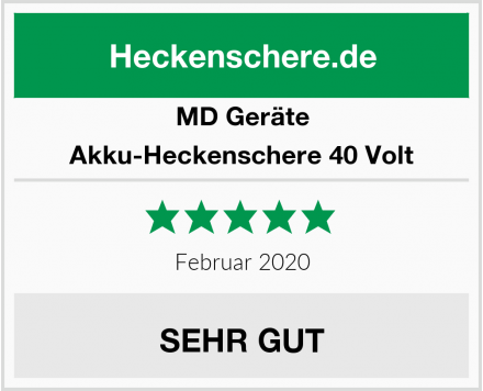 MD Geräte Akku-Heckenschere 40 Volt Test