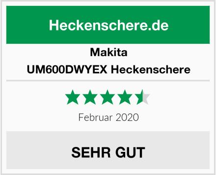 Makita UM600DWYEX Heckenschere Test