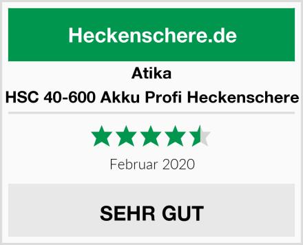 Atika HSC 40-600 Akku Profi Heckenschere Test