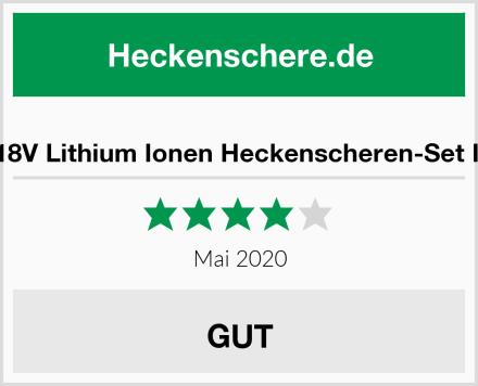 Murray 18V Lithium Ionen Heckenscheren-Set IQ18HTK Test