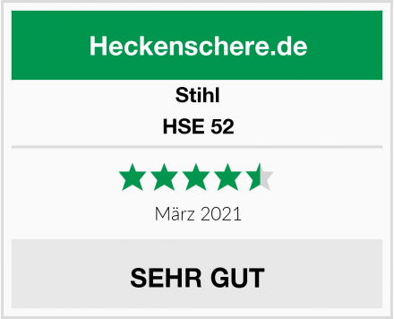 Stihl HSE 52 Test
