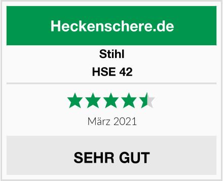 Stihl HSE 42 Test