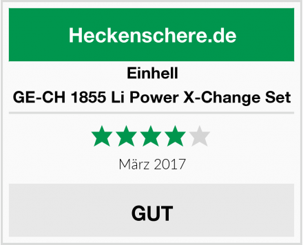 Einhell GE-CH 1855 Li Power X-Change Set Test