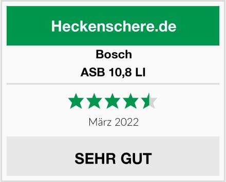 Bosch ASB 10,8 LI Test