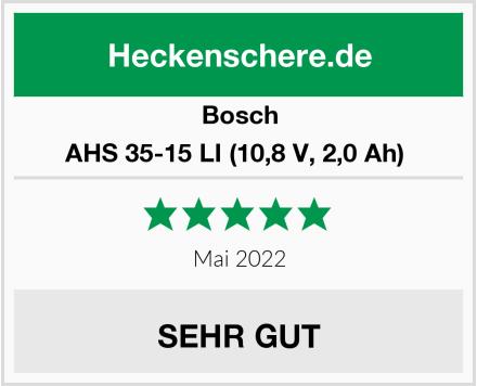 Bosch AHS 35-15 LI (10,8 V, 2,0 Ah)  Test